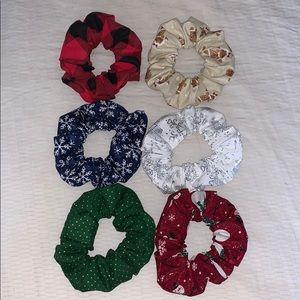 Winter / Christmas Scrunchie Set
